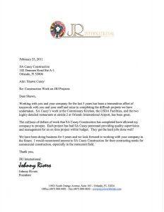Commercial General Contractor in Orlando Review - JR International Enterprises Inc