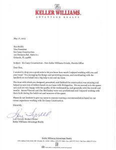 Commercial General Contractor in Orlando Review - Keller Williams