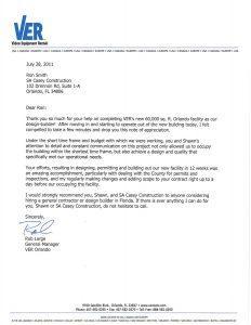 Commercial General Contractor in Orlando Review - Video Equipment Rentals (VER)