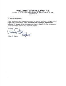 Commercial General Contractor in Orlando Review - William Stuhrke