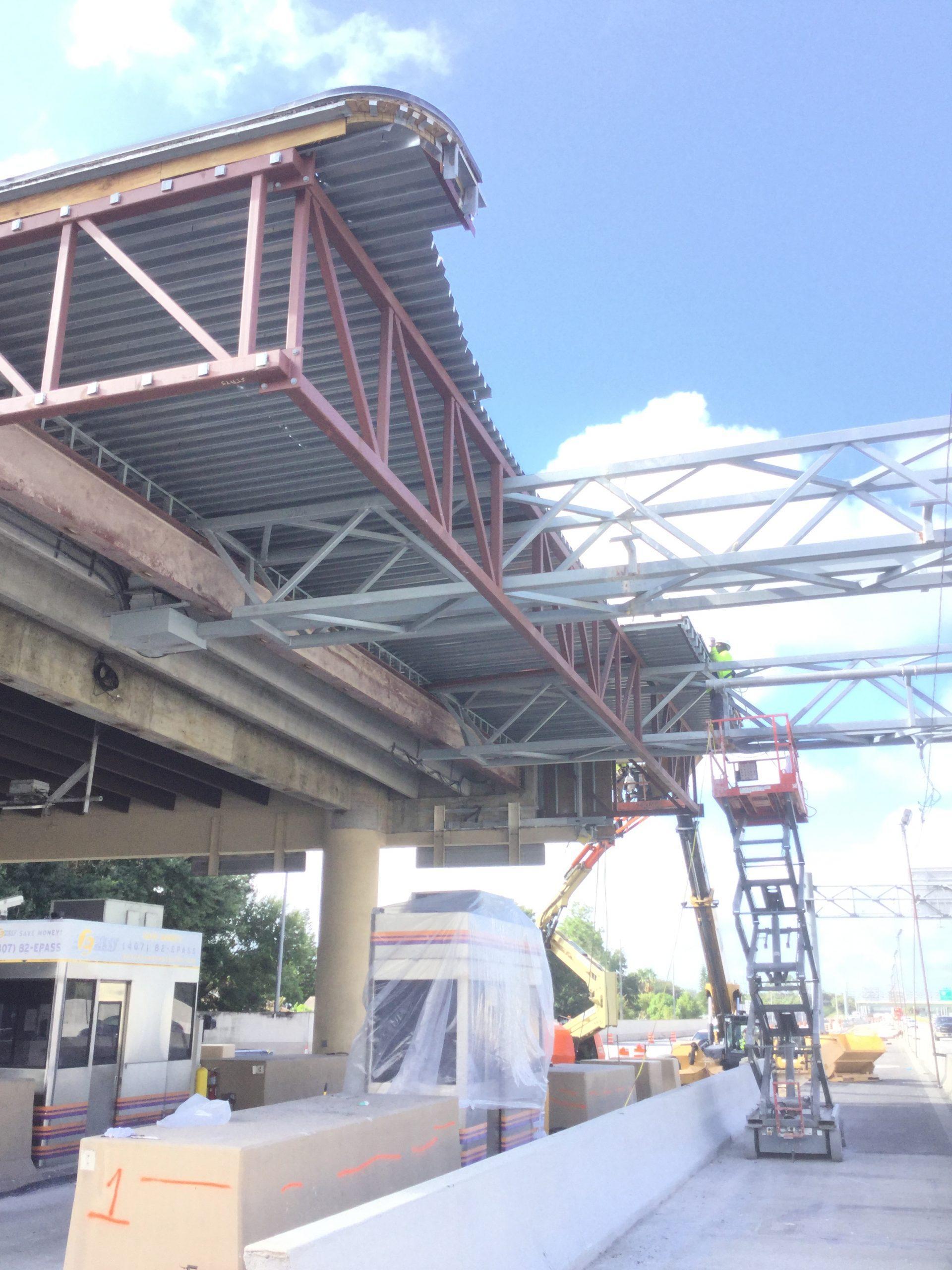 Orlando GC Expressway Toll Plaza Metal Decking Demolition