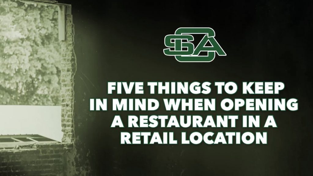 Five things to keep in mind when opening a restaurant in a retail location