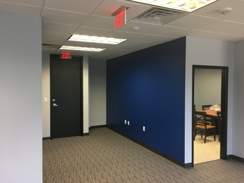 Orlando Office Space Renovation General Contractor for Accent Wall