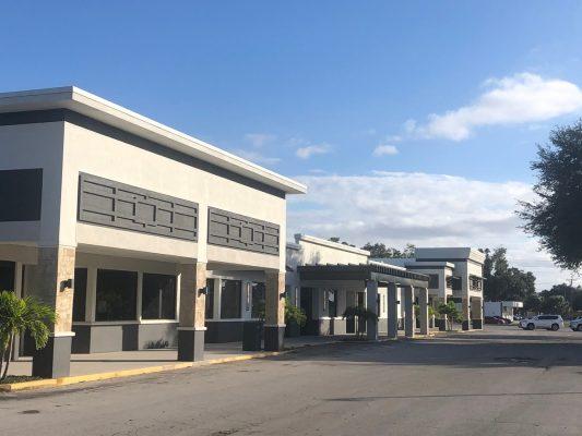 Retail Façade with Pergola by Orlando General Contractor