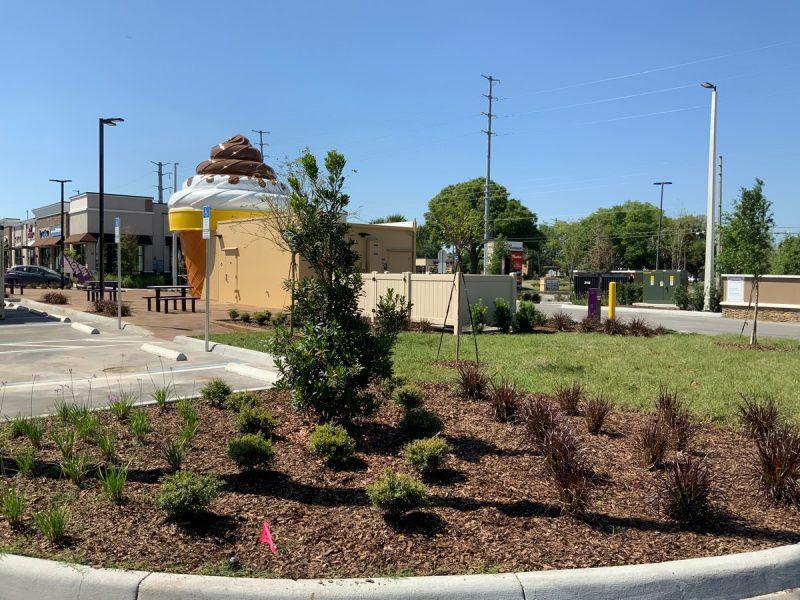 Commercial GC New Construction Landscape at Building