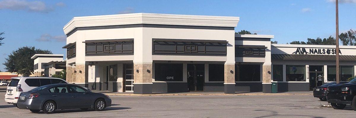 Shopping Plaza Façade by Orlando GC at Fort Gatlin