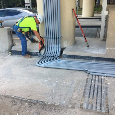 Orlando General Contractor installing Conduit Runs for EPASS