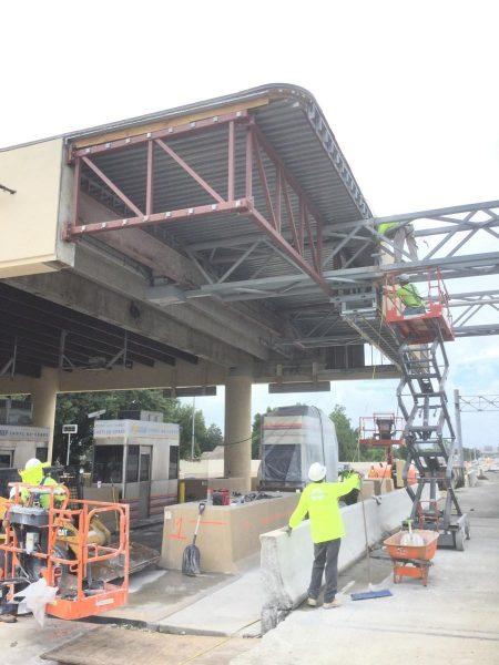 Orlando GC Expressway Toll Plaza initial Canopy Demolition