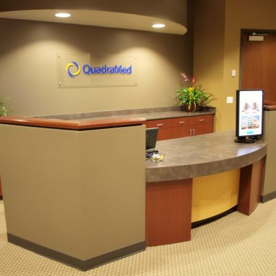 Lake Mary Commercial General Contractor - 2 Level Reception Desk