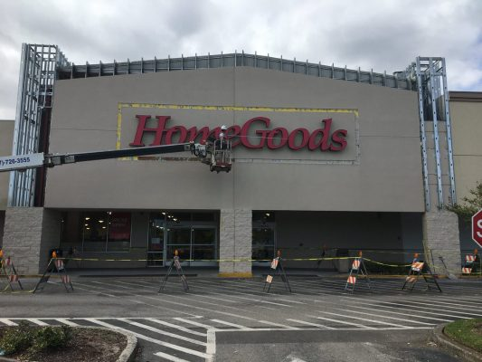 Commercial Façade Sign Removal and Metal Framing