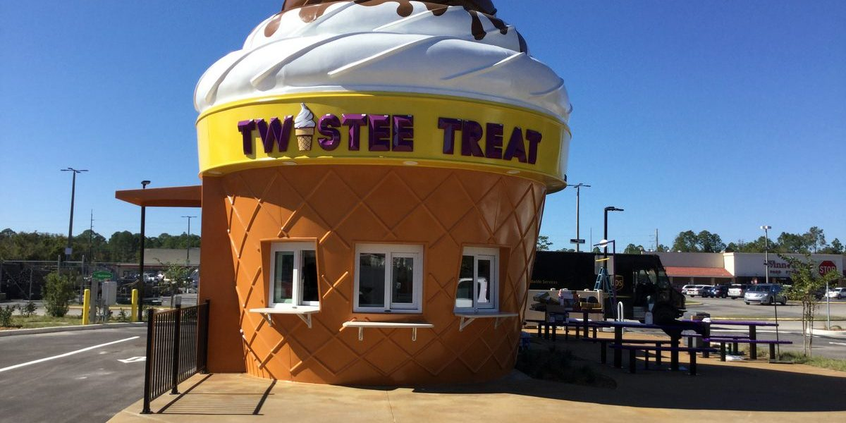 New Construction Ice Cream Building