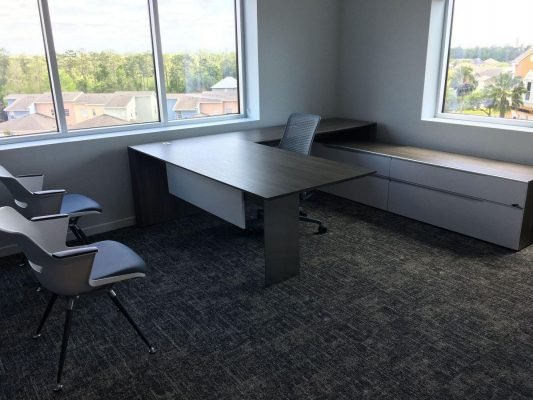 Office Renovation General Contractor Build Out Corner Room