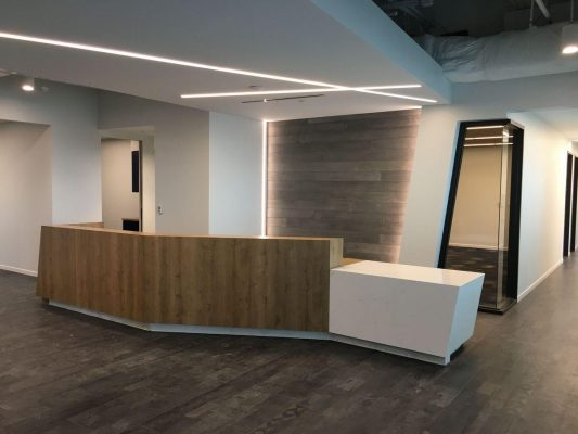Office Renovation General Contractor Lobby Build Out