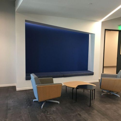 Office Renovation General Contractor Build Out Seating Area