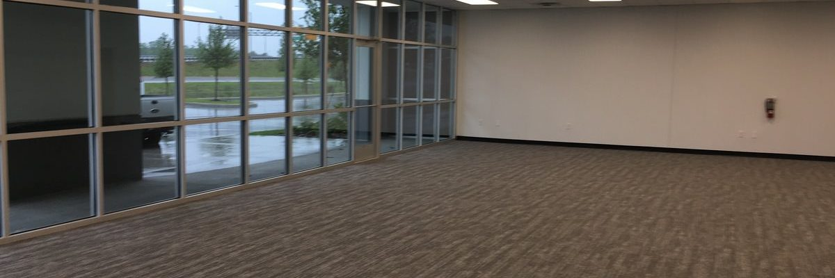 Open Office Buildout by GC for Storefront in Orlando Warehouse