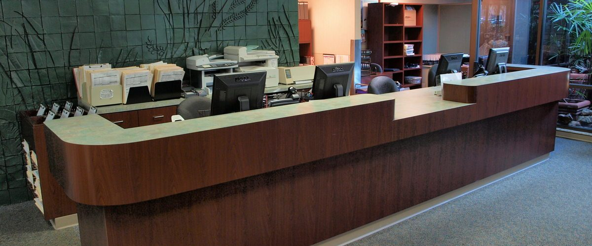 Winter Park Commercial General Contractor - Medical Reception Desk